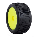 1:10 BUGGY IMPACT REAR (SOFT) HEXLITE WHEEL PRE-MOUNTED YELLOW