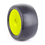 1:10 BUGGY EVO SLICKS REAR (CLAY) EVO WHEEL PRE-MOUNTED YELLOW