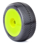 1:8 BUGGY GRIDIRON 2 (MEDIUM - LONG WEAR) EVO WHEEL PRE-MOUNTED YELLOW
