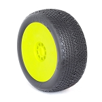 1:8 BUGGY TYPO (SUPER SOFT) EVO WHEEL PRE-MOUNTED YELLOW