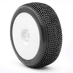 1:8 BUGGY IMPACT SUPER SOFT EVO WHEEL PRE-MOUNTED WHITE
