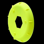 1:10 BUGGY HEXLITE REAR WHEEL STIFFENERS (YELLOW)
