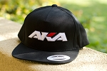 AKA BASEBALL CAP FLAT BILL SNAP BACK (BLACK)
