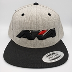 AKA FLAT BILL BLACK LOGO SNAP BACK - HEATHER/BLACK