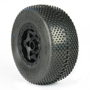 1:10 GRIDIRON SC SUPER SOFT PRE-MNT SC-10 FRONT (WHEEL BEARINGS)