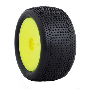1:10 BUGGY IMPACT REAR (SUPER SOFT) HEXLITE WHEEL PRE-MOUNTED YELLOW