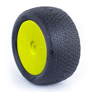 1:10 BUGGY EVO TYPO REAR (ULTRA SOFT) EVO WHEEL PRE-MOUNTED YELLOW