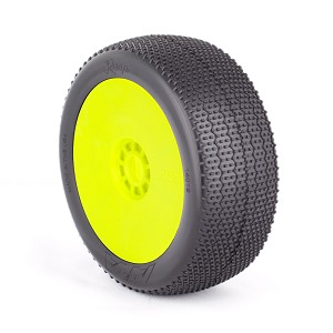 1:8 BUGGY RASP (SUPER SOFT) EVO WHEEL PRE-MOUNTED YELLOW