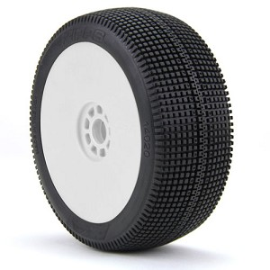 1:8 BUGGY ZIPPS (SOFT - LONG WEAR) EVO WHEEL PRE-MOUNTED WHITE