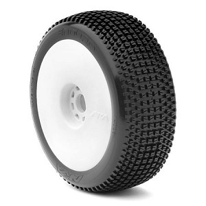 1:8 BUGGY ENDURO (SOFT - LONG WEAR) EVO WHEEL PRE-MOUNTED WHITE