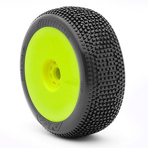 1:8 BUGGY IMPACT (SUPER SOFT - LONG WEAR) EVO WHEEL PRE-MOUNTED YELLOW