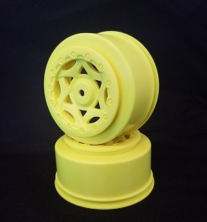 1:10 CYCLONE SC WHEEL (YELLOW) LOSI SCTE 4X4, TEKNO SCT410