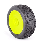 1:8 BUGGY CHAIN LINK (SUPER SOFT) EVO WHEEL PRE-MOUNTED YELLOW