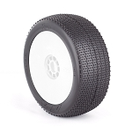 1:8 BUGGY RASP (SOFT) EVO WHEEL PRE-MOUNTED WHITE