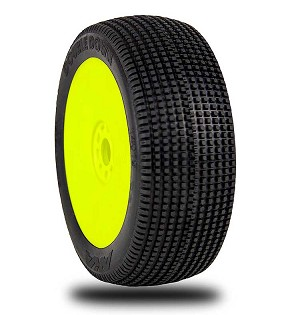 1:8 BUGGY DOUBLE DOWN (SUPER SOFT - LONG WEAR) EVO WHEEL PRE-MOUNTED YELLOW