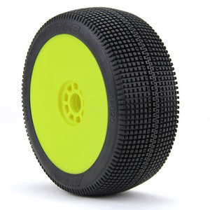 1:8 BUGGY ZIPPS SUPER SOFT EVO WHEEL PRE-MOUNTED YELLOW