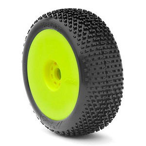 1:8 BUGGY I-BEAM (MEDIUM - LONG WEAR) EVO WHEEL PRE-MOUNTED YELLOW (ONE PAIR)
