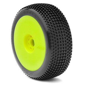 1:8 BUGGY ENDURO (MEDIUM - LONG WEAR) EVO WHEEL PRE-MOUNTED YELLOW